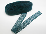 "Closeout Bolt Lace  1 1/4"" (31.75MM) Teal Soft 50 Yards"