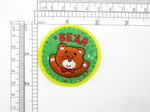 "Bear Circle Patch Embroidered iron On Applique 2 1/8"" x 2 1/8"""