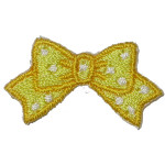 Iron On Patch Applique - Yellow Bow 25 pieces