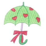 Iron On Patch Applique - Umbrella Green