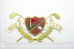Golf Club Large Crest Embroidered Iron On Patch Applique