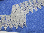 """Venise Lace 2 3/4"""" (69.85mm) Metallic Silver Priced Per Yard"""