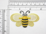 "Bee Patch Sheer Wings Iron On Embroidered Applique 2 5/8"" x 1 1/2"""