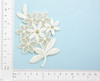 Off White Gold Floral Bridal Applique Iron On Embroidered Patch