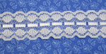 "Galloon Insertion Lace 1 1/2"" (38mm) Brilliant White 10 yards"