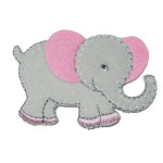 Iron On Patch Applique - Elephant 5733