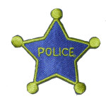 Iron On Patch Applique - Police Star
