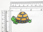 """Tortoise Patch Iron On Embroidered Applique 2"""" x 1 1/4"""""""