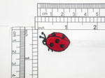 "Ladybug Patch Iron On Embroidered Applique 1"" x 5/8""  Fully Embroidered"