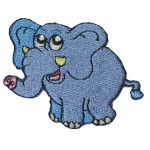Elephant Patch - Embroidered Iron On Applique