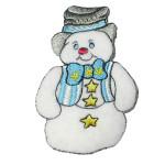 Iron On Patch Applique - Snowman Top Hat