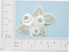 Off White & Gold Bridal Flower Applique - Iron On Embroidered Patch
