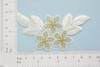 """Off White Gold Floral Bridal Applique Iron On Embroidered Patch  Iron On Embroidered Patch  Measures  2"""" x 3 3/4"""" (50mm x 90mm)"""