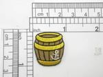 "Pirates Gunpowder Barrel Patch Iron On Applique 5/16"" x 1"""