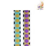 """Jacquard Ribbon 7/8"""" Zebra Dot *Colors* Per Yard"""