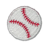"Iron On Patch Applique -1""  Baseball - 5 Pack"