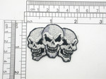 Triple Skulls Embroidered Iron On Patch Applique