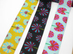 "Jacquard Ribbon 1 1/2"" Fans *Colors* Per Yard"