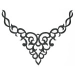 Iron On Patch Applique Decorative Yoke Black
