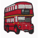 Iron On Patch Applique - Bus Red Small