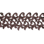 "Venise Lace 3"" Brown 6 Yard Bolt"