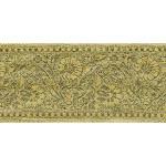 "Jacquard Ribbon 3"" Green Gold  Floral 9 Yard Bolt"