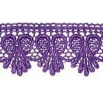 """Venise Lace 1 3/4"""" Purple"""