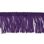 "Chainette Fringe 2"" Acetate Purple Per Yard"