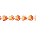 "Venise Lace Daisy 1/2"" Orange 10 Yards"