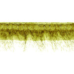 "Fur Braid Fringe 3 1/2"" Green Wrights 6 Yards"