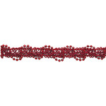 "Braid 5/8"" Beaded Gimp Red Wrights 12 Yards"