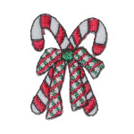 Candy Canes Iron On Patch Applique