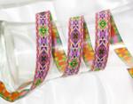 Aztec pattern jacquard ribbon woven border tjr556