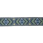 "Jacquard Ribbon 3/4"" Peri & Sage Aztec 3 Yards"