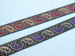 "Jacquard Ribbon 3/4"" 20mm Paisley Metallic *Colors* 5 Yards"
