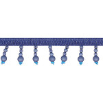 "Beaded Trim 1 3/4"" Frosted Blue 12 Yards"