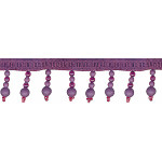 "Beaded Trim 1 3/4"" Frosted Eggplant 12 Yards"