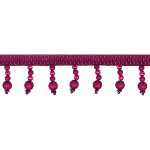 "Beaded Trim 1 3/4"" Frosted Cranberry 12 Yards"