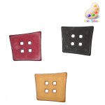 "Button 1 3/4"" Abstract Square 4 Hole *Colors* Per Piece"