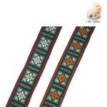 "Jacquard Ribbon  1 1/8"" (28mm) Alpine Style *Colors* 5 Yards"
