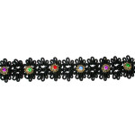 "Braid 1"" Black Rhinestone Fancy Per Yard"