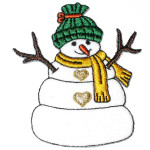 Iron On Patch Applique - Snowman Traditional