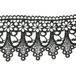 "Venise Lace 3 1/4"" drop Black 15 Yard Bolt"