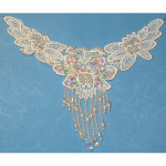 Venise Lace Yoke Beaded - Ivory Per Piece