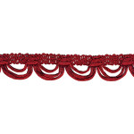 "Fringe 1 1/2"" Rat Tail Scalloped Red 9 Yards"