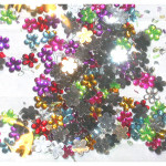 Flat Back Flower Decals 6mm 300 pieces Multi