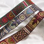 """Jacquard Ribbon 1 1/4"""" (31.75mm) Modern Leaf & Nature Blocks *Colors*"""