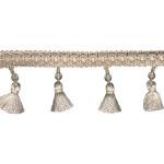 "Beaded Tassel Fringe on Salon Decor Braid 2 1/2"" (63.5mm) Drop Colors Priced Per Yard"