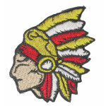 Iron On Patch Applique - Left Facing Chief Head