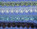 "Venise Lace 1 1/2"" (38mm) *Colors* with Sequins Priced Per Yard"